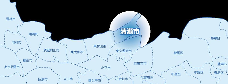 清瀬市の地図